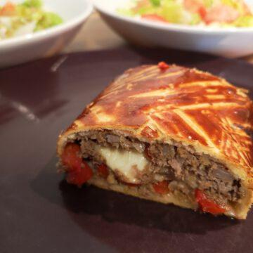 Fleisch-Käse-Rolle